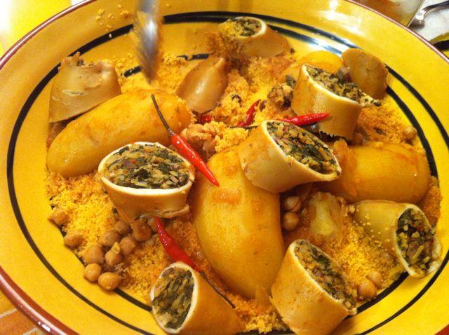 couscous aux calamars farcis