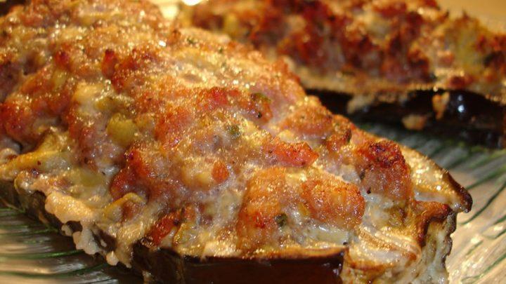 Aubergines farcies aux pommes de terre