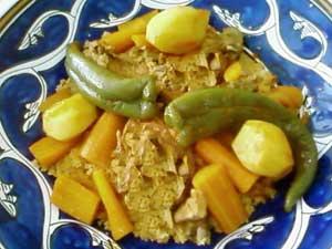 Couscous au poivron