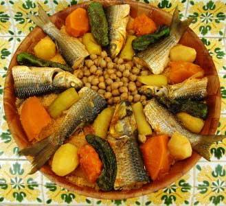 Couscous djerbien au poisson