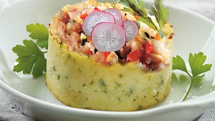 Ecrasée de pommes de terre aux légumes