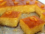 Basboussa à l'orange ( harisset louz )